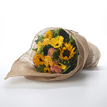 Yellow Flowers Bouquet: Send Flower Bouquets to New Zealand