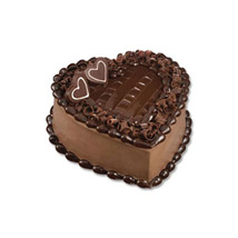 Chocolate Heart Cake: