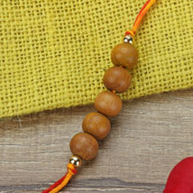Simple Chandan Rakhi RUS: Send Rakhi to Russia