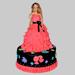 Wavy Dress Barbie Cake 2Kg Chocolate