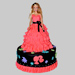 Wavy Dress Barbie Cake 3Kg Chocolate