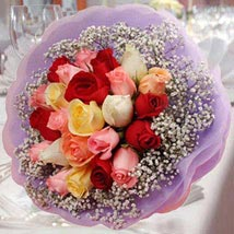 20 Mixed Roses Posy: Valentines Day Gifts - Singapore