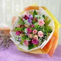 30 Mixed Roses: Mothers Day Flowers - Singapore