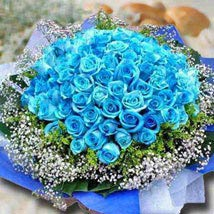 99 Blue Roses: Mothers Day Flowers - Singapore