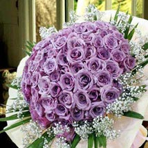 99 Purple Roses: Valentines Day Gifts - Singapore
