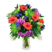 Mix Bouquet in Vase: Christmas Gift Delivery Singapore