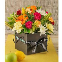Birthday Flowers in a Box: Gifts To South Africa