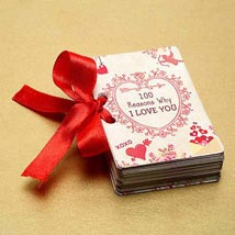 100 Reasons of Love Booklet: Send Gifts to Sharjah