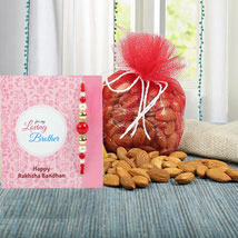 Almonds N Blue Zardosi Rakhi: Send Rakhi to UAE