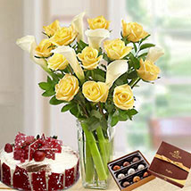 Blissful Combo: Flower and Cake Delivery in UAE