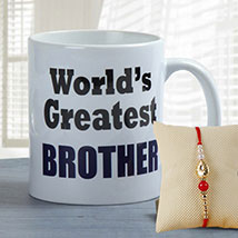 Brother's Favorite Mug: Send Rakhi to Abu Dhabi