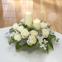 Center Table Arrangement: Same Day Condolence Flowers in UAE