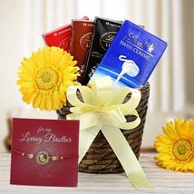 Choco Hamper with Rakhi: Send Rakhi to Abu Dhabi