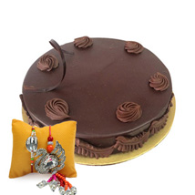 Eggless Chocolate Truffle with Rakhi: Send Rakhi to Abu Dhabi