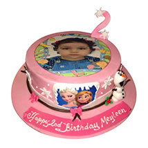 Frozen Photo Cake: Personalised Gifts Delivery in UAE