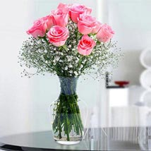 Glorious 12 Pink Roses: Same Day Flowers for Boyfriend in UAE