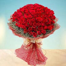 Grand 100 Red Roses: Same Day Bouquet in Abu Dhabi