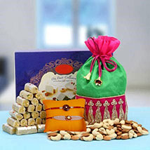 Indo Trendy Rakhi Hamper: Send Bhaiya Bhabhi Rakhi to UAE