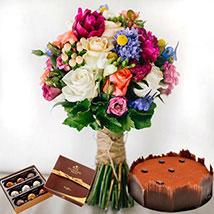 Lavish Combo: Send Flowers & Chocolates to UAE