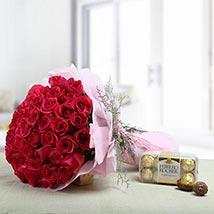 Lovely Presentation: Valentine Flower Bouquets to UAE
