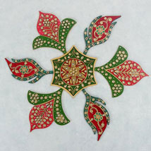 Meenakari Rangoli Pattern: Send Diwali Gifts to UAE