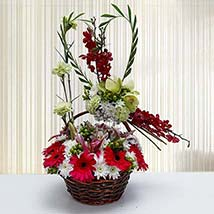 Natural Holiday Basket: Carnations to UAE