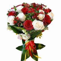 Peach Red and Yellow: Friendship Day Flowers UAE