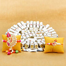 Rakhi Set with Kaju Katli: Send Rakhi for Brother in UAE