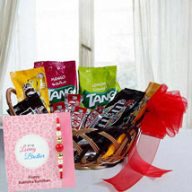 Rakhi with Gift Basket: