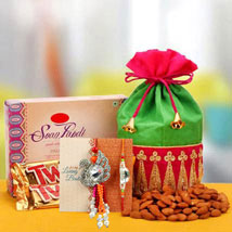 Rakhi with Soanpapdi N Almond: Rakhi for Brother