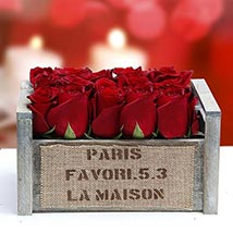 Red Rapture Arrangement: Roses for Valentines Day