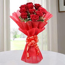 Red Roses Bouquet of Love: Christmas Gifts for Her to UAE