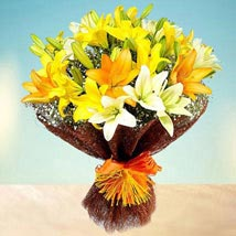 Sunny Asiatic Lilies: Birthday Flower Bouquets to UAE