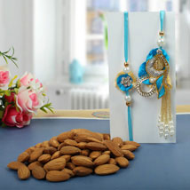 Almond nuts Rakhi Hamper: Rakhi to Cambridge
