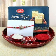 Aum Fancy Combo Rakhi: Send Rakhi to Newcastle