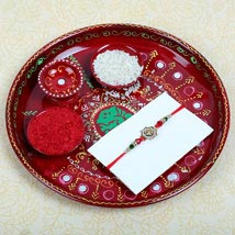 Aum Fancy Rakhi and Puja Thali: Rakhi to Manchester UK