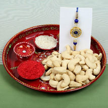 Celebration Cashew Nuts with Rakhi: Rakhi to Cambridge