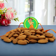 Chota Bheem Almond Nuts Rakhi Hamper: Rakhi to Cambridge