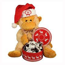 Christmas Treats with Monkey Plush Toy: Gift Baskets in London UK