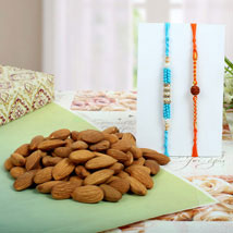Diamond Rudraksh with Almond Nuts: Send Rakhi to Birmingham