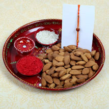 Elegant Rudraksh Combo Set: Rakhi With Dryfruits UK