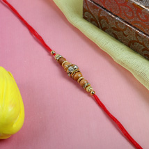 Fancy Diamond with Sandalwood: Send Rakhi to Cambridge