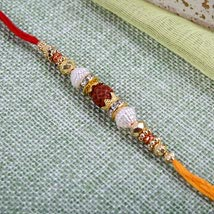 Fancy Rudraksh Rakhi: Rakhi to Cambridge
