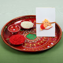 Kids Ganesh Rakhi and PujaThali: Rakhi to Birmingham