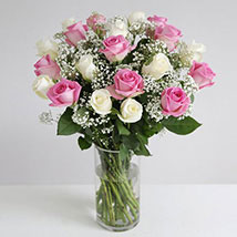 Pastel Fairtrade Roses: Anniversary Flowers to UK