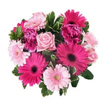 Pink Baby Girl Bouquet: Send Gifts to Newcastle