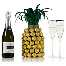 Prosecco Pineapple For Her: Valentines Day Gifts London