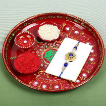 PujaThali with Rajwadi Rakhi: Send Rakhi to Cambridge