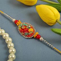 Rainbow Flower Thread: Rakhi for Brother - UK