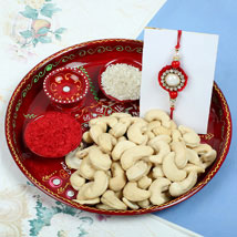 Raksha Bandhan with Cashew Nuts: Send Rakhi to Manchester UK